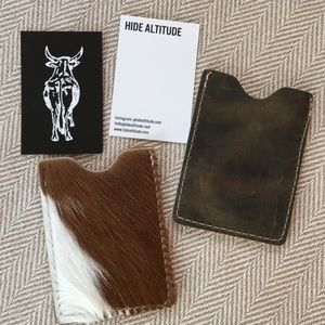 Hide Altitude leather and hide card holder